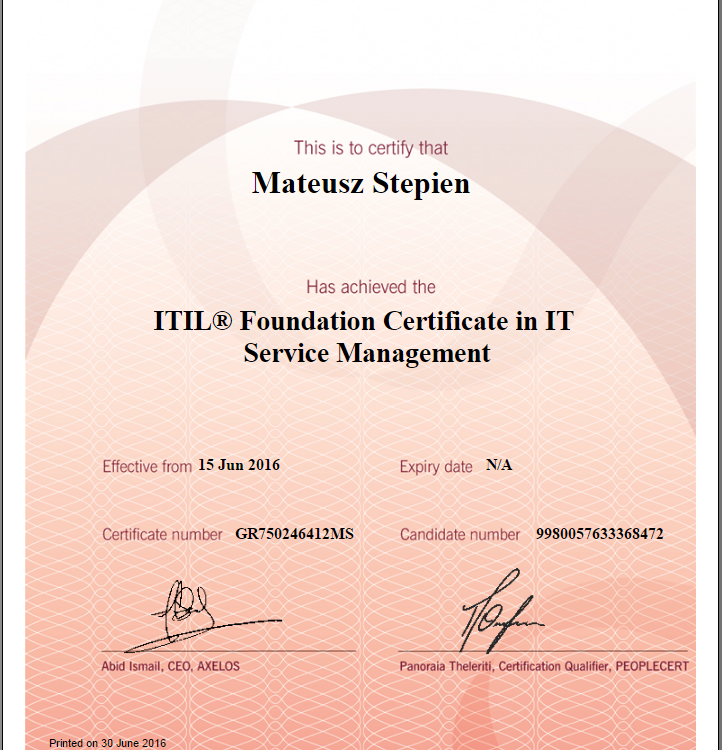 It Service Management What Is Itil Foundation Certificate In It